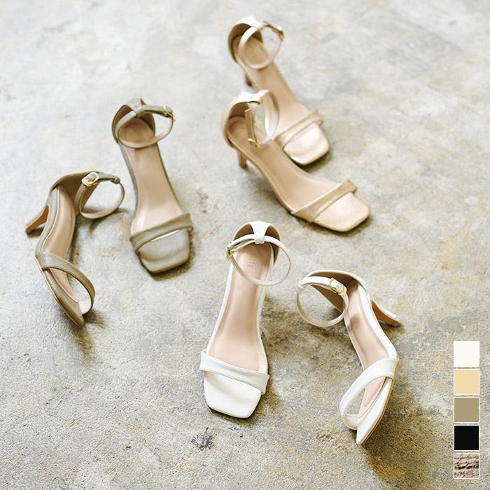 期間限定 2000均一 6cmヒールストラップスクエアサンダル シューズ レディース 靴 ヒール カラバリ豊富 ふるさと割 サンダル シンプル スクエアトゥ ストラップ 卸直営 柄
