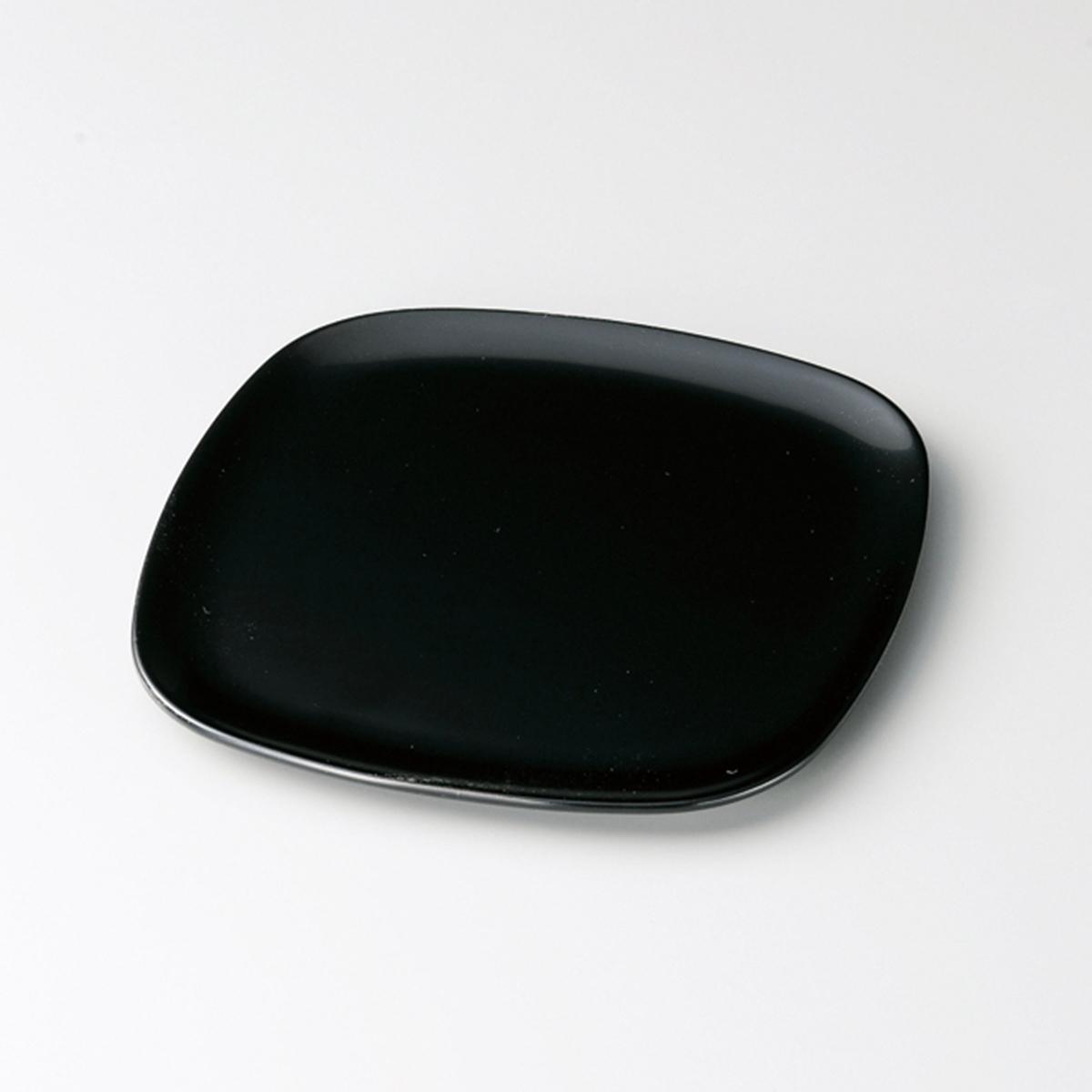 胴張銘々皿(黒)5枚セット宮内庁御用達 銘々皿 木製 日本製 来客 越前漆器 うるし 艶 上品 器 漆器 木 漆塗 手塗 高級 おすすめ 揃い おもてなし 取り皿 小皿 お皿 菓子皿 内祝 新築祝 ギフト