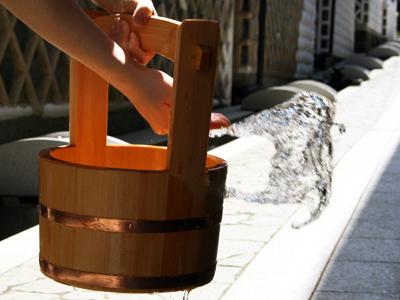 打ち水手桶 単品 【木曽の漆器よし彦】