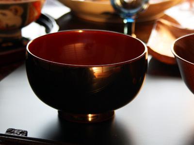 すべて国産汁椀 日の丸椀溜内朱塗り 単品 【木曽の漆器よし彦】