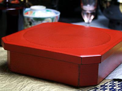 永遠の定番 ギフトに人気の重箱 一段重箱 商い 隅切り 木曽の漆器よし彦
