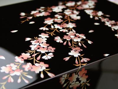 桜のレターボックス 【木曽の漆器よし彦】