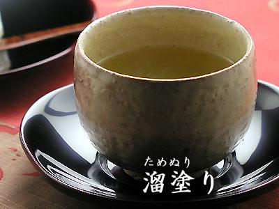 梅型茶托溜塗り5枚セット 【木曽の漆器よし彦】