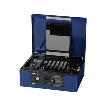 【キャッシュレス5%還元】CR-01679 カール事務器 キャッシュボックス ブルー【/srm】