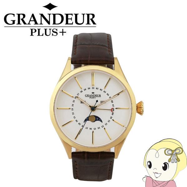 GRP011G1 GRANDEUR PLUS+ グランドールプラス 腕時計 ムーンフェイズ 牛本革バンド【smtb-k】【ky】