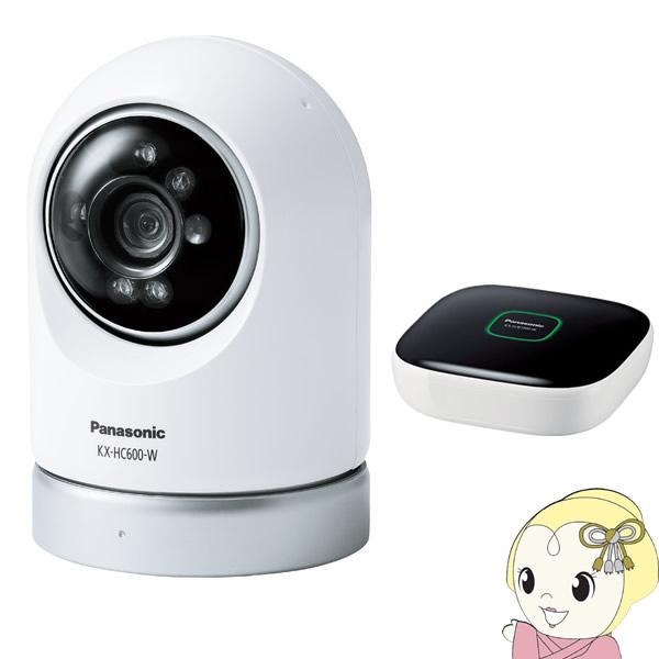 【キャッシュレス5%還元】KX-HC600K-W パナソニック 屋内スイングカメラキット (ホームユニット付属)【/srm】