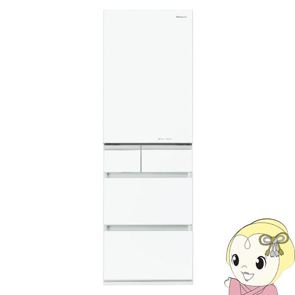 【設置込/左開き】 NR-E454PXL-W パナソニック 5ドア冷蔵庫450L PXタイプ スノーホワイト【smtb-k】【ky】
