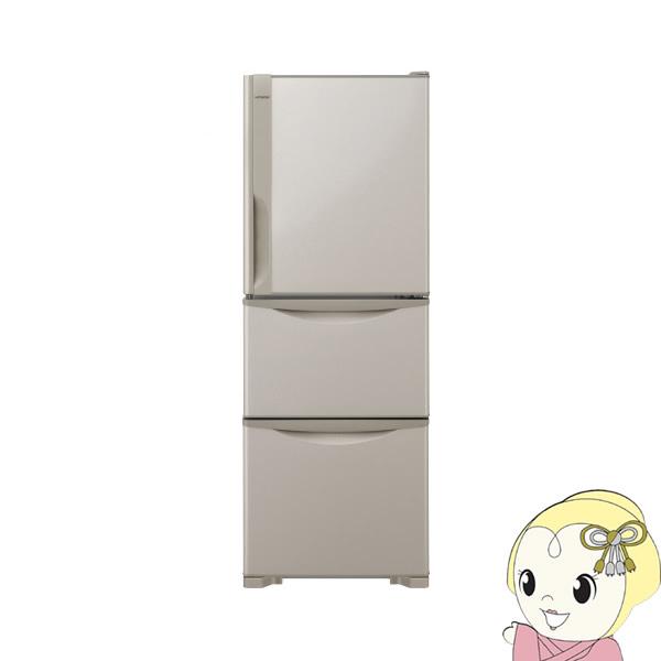【設置込】 R-27JV-T 日立 3ドア冷蔵庫265L まんなか野菜 ライトブラウン【smtb-k】【ky】