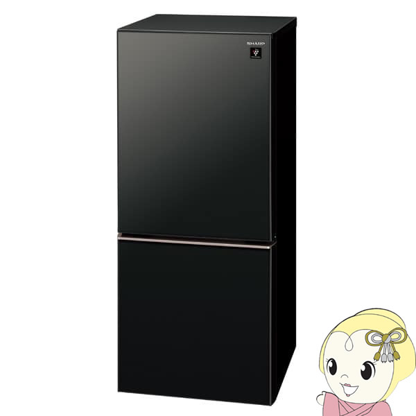 SJ-GD14E-B シャープ 2ドア冷蔵庫137L つけかえどっちもドア ピュアブラック【smtb-k】【ky】