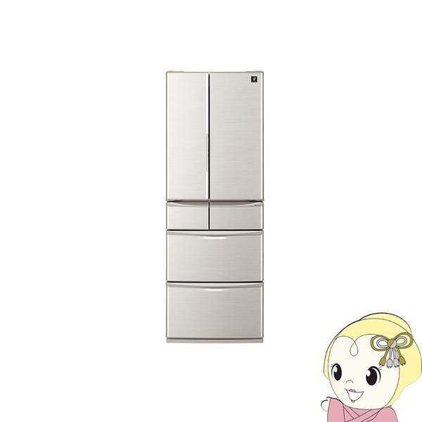 【設置込】SJ-F462E-S シャープ 6ドア冷蔵庫455L メガフリーザー シルバー系【smtb-k】【ky】