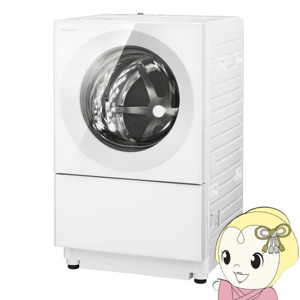 【キャッシュレス5%還元】【設置込/左開き】NA-VG740L-W パナソニック ななめドラム洗濯乾燥機 7kg 乾燥 3.5kg Cuble(キューブル) マットホワイト【/srm】