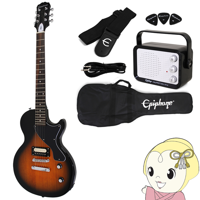 【在庫僅少】PPEG-ENPLVSCH1 Epiphone Epiphone エレキギター PRO-1 LES PAUL JR. PACK レスポール ジュニア 入門セット ビンテージ