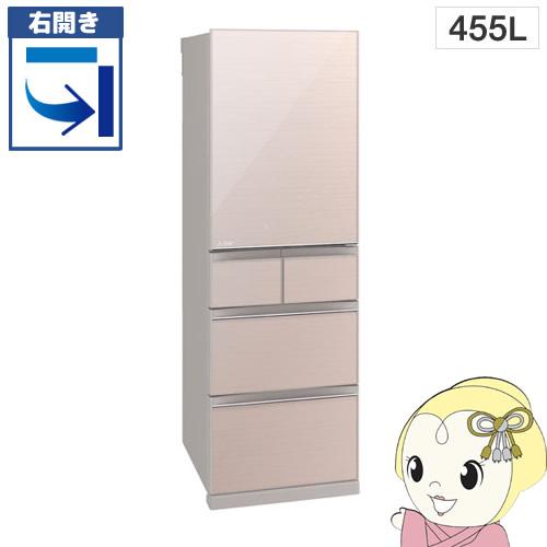 【京都はお得!】【設置込】【右開き】MR-B46C-F 三菱電機 5ドア冷蔵庫455L Bシリーズ クリスタルフローラル【smtb-k】【ky】