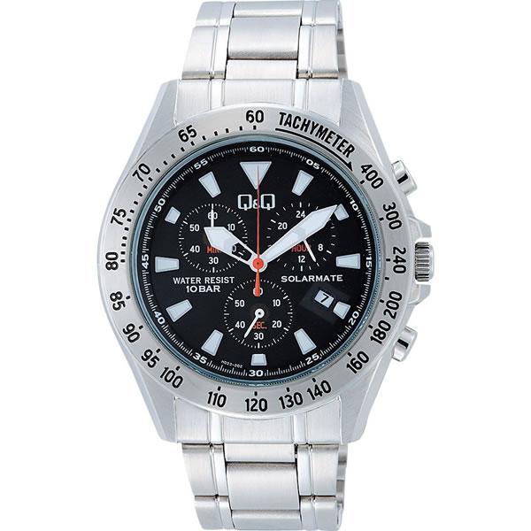 シチズン 腕時計 Q&Q SOLARMATE クロノグラフ H022-202【smtb-k】【ky】