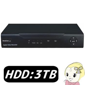 【キャッシュレス5%還元】SMAHVR-3TB TEC テック 録画器 4ch HDD(3TB)搭載【/srm】