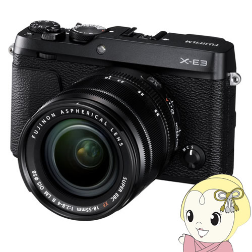 【キャッシュレス5%還元】FUJIFILM ミラーレス 一眼カメラ X-E3 レンズキット [ブラック]【/srm】【KK9N0D18P】