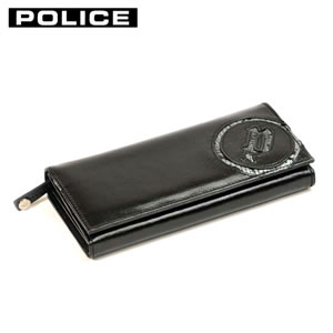 PA5503-10 ブラック POLICE 小銭入れ付き 二つ折り長財布【smtb-k】【ky】