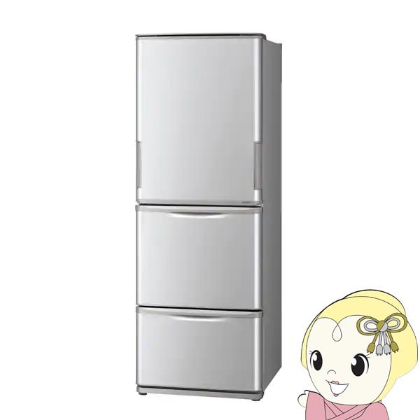 【設置込】SJ-W351E-S シャープ 3ドア冷蔵庫350L どっちもドア シルバー系【smtb-k】【ky】