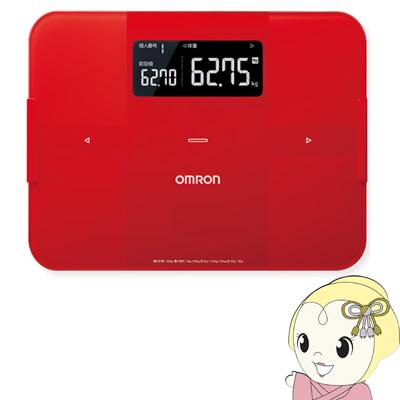 【キャッシュレス5%還元】オムロン 体重体組成計 カラダスキャン レッド HBF-255T-R【/srm】【KK9N0D18P】