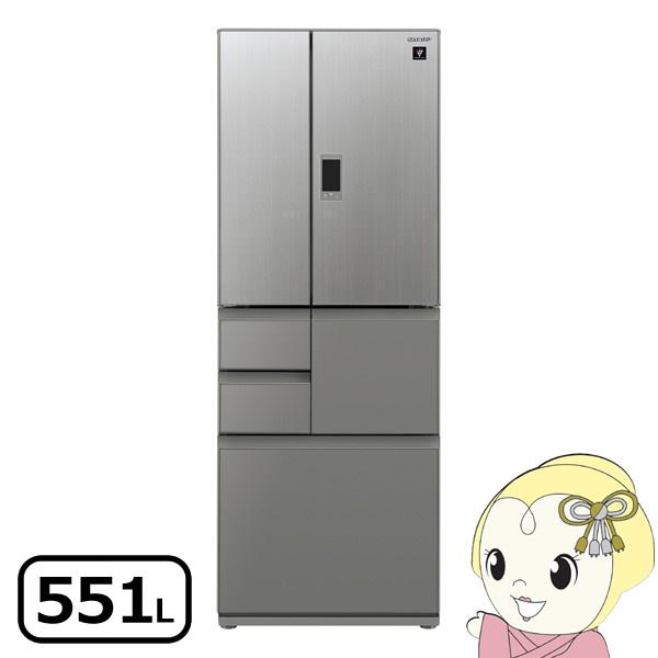 【設置込】SJ-GX55E-S シャープ 6ドア冷蔵庫551L メガフリーザー エレガントシルバー【smtb-k】【ky】