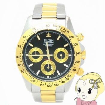 【キャッシュレス5%還元】エルジン クロノグラフ 腕時計 FK1059TG-B【/srm】