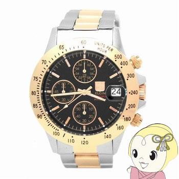 【キャッシュレス5%還元】エルジン クロノグラフ 腕時計 FK1184PG-B【/srm】