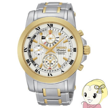 [逆輸入品] SEIKO クォーツ 腕時計 PREMIER プルミエ アラーム クロノグラフ パーペチュアル SPC162P1【smtb-k】【ky】