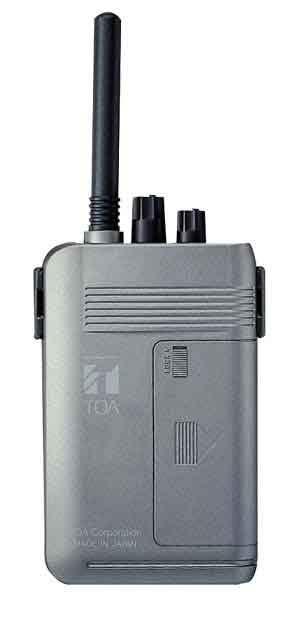 【キャッシュレス5%還元】WT-1100 TOA ワイヤレスガイド携帯型受信機【/srm】