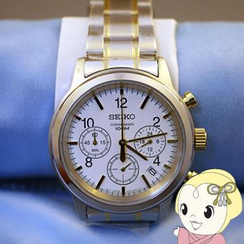 【キャッシュレス5%還元】【あす楽】在庫僅少 【逆輸入品】 SEIKO クオーツ 腕時計 クロノグラフ SSB009P1【/srm】