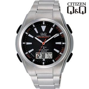 シチズン 腕時計 Q&Q 世界5局対応 コンビネーション電波時計 ソーラー電源 MD02-202【smtb-k】【ky】