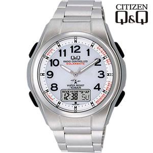 シチズン 腕時計 Q&Q 世界5局対応 コンビネーション電波時計 ソーラー電源 MD02-204【smtb-k】【ky】