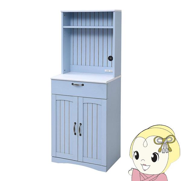 【メーカー直送】JKプラン フレンチカントリー家具 カップボード 幅60 フレンチスタイル ブルー&ホワイト FFC-0006-BL【smtb-k】【ky】