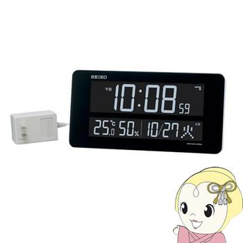 セイコークロック 交流式カラー液晶デジタル 掛時計 置時計 電波掛置兼用時計 白塗装 DL208W【smtb-k】【ky】