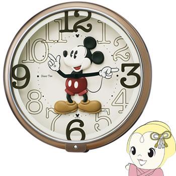 セイコークロック ディズニー ミッキーマウス ディズニータイム クオーツ掛時計 茶メタリック塗装 FW576B【smtb-k】【ky】
