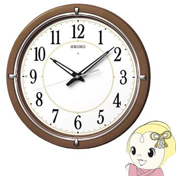 セイコークロック 掛け時計 自動点灯 電波 アナログ 夜でも見える ファインライトNEO ネオ 木枠 茶木地 KX395B【smtb-k】【ky】