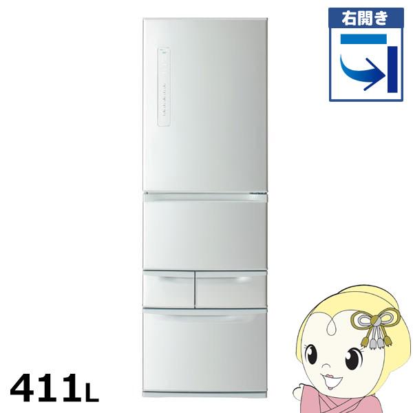 【設置込/右開き】GR-P41G-S 東芝 5ドア冷蔵庫411L VEGETA(ベジータ) シルバー【smtb-k】【ky】