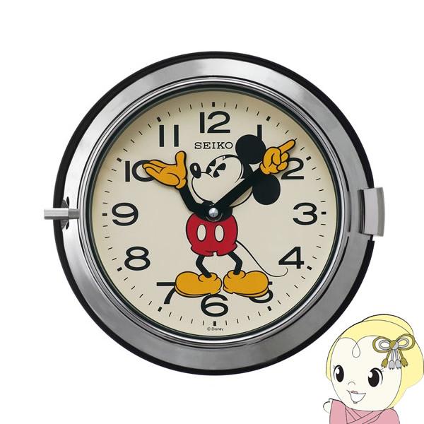 セイコー 掛け時計 ミッキーマウス アナログ 防塵型 大人ディズニー 銀色 FS504S【smtb-k】【ky】
