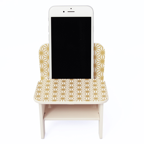 【SPEAKER CHAIR chair type - Premium (麻の葉)】漆器 漆 和風 スピーカーチェアー 電源いらず ノン電源 iPhone スピーカー 携帯置き スマホスタンド インテリア雑貨 iPhone5 iPhone5s iPhone6 iPhone6s iPhone7 ギフト プレゼント
