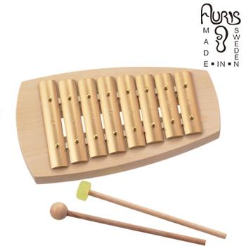 打楽器 鉄琴 北欧インテリア シンプル 音の出るおもちゃ インテリア雑貨 ◎アウリス シェルズグロッケン ダイヤトニック8音 AUKAD008[楽器 おもちゃ こども 北欧 スウェーデン 木製 グロッケン プレゼント・ギフトにおすすめ 男の子 女の子 子供]