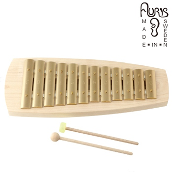 ◎アウリス シェルズグロッケン ダイヤ12音 AUKAD012[楽器 おもちゃ こども 北欧 スウェーデン 木製 グロッケン プレゼント・ギフトにおすすめ 男の子 女の子]