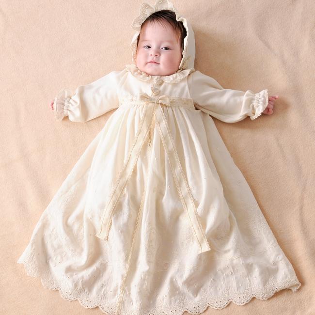 ◎Amorosa mamma 天使の糸 クラシカルレースのセレモニードレスセット AC-031[出産祝い 女の子 服]