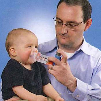 ◎供有earochamba·加靜電防止型口罩的乳兒使用的(0-18個月)T03-0032[用乳兒專用的哮喘的呼吸系統定量噴霧式吸入器MDI supesaearochambapurasu洗碗機洗滌的OK]