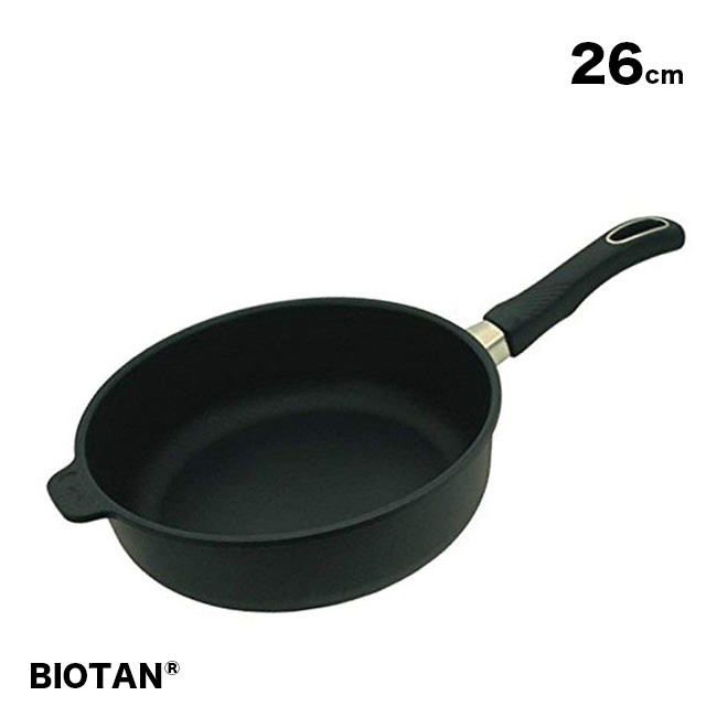 ◎【無料ラッピング対応可】BIOTAN バイオタン 深型フライパン26cm(IH非対応)226A[生物由来の新コーティングでこびりつきにくい!持ち手が取り外せてオーブンにも入る深いフライパン(ガス/ガスコンロ対応)] 送料無料