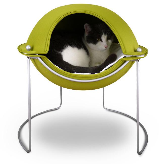 ◎ヘッパー ポッドベッド 猫用ベッド hepper Pod bed[猫が落ち着くドーム インテリアを損なわないオシャレなベッド(雑貨・用品) おしゃれなデザインが人気 ネコのベッド(洗える マットがついている)]