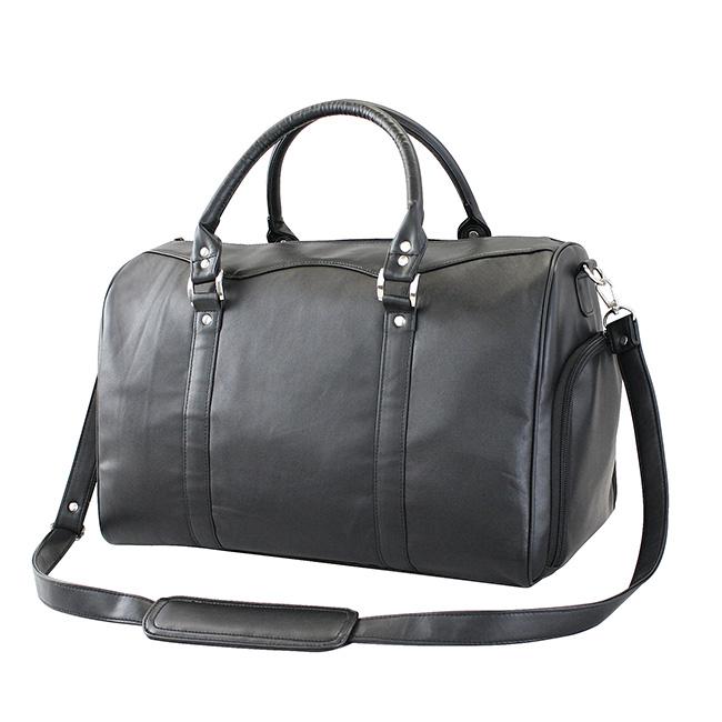 ◎本ラム革軽量ボストンバッグ[ボストンバッグ 旅行・ゴルフやビジネスの出張におすすめの軽いボストン シューズ収納がついたメンズのバッグ ショルダーにもなる本革の鞄 旅行バック]