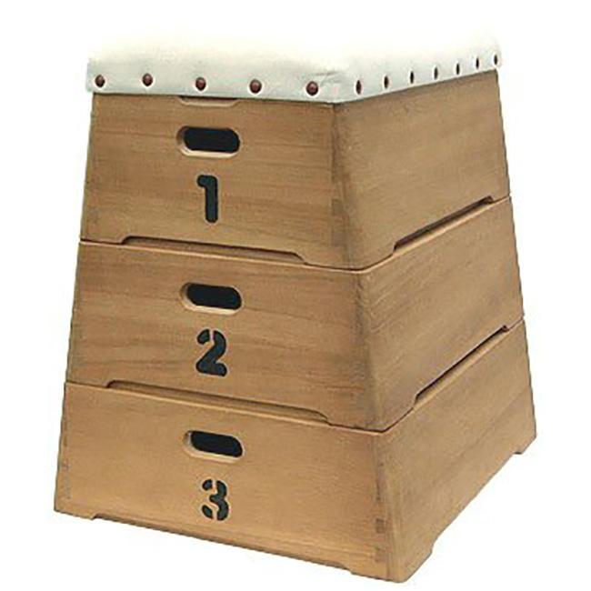 ◎桐木工 跳び箱収納 3段[とび箱型の子供用おもちゃ箱 おもちゃやぬいぐるみ 子供服などの収納におすすめな収納ボックス 日本製の収納箱]