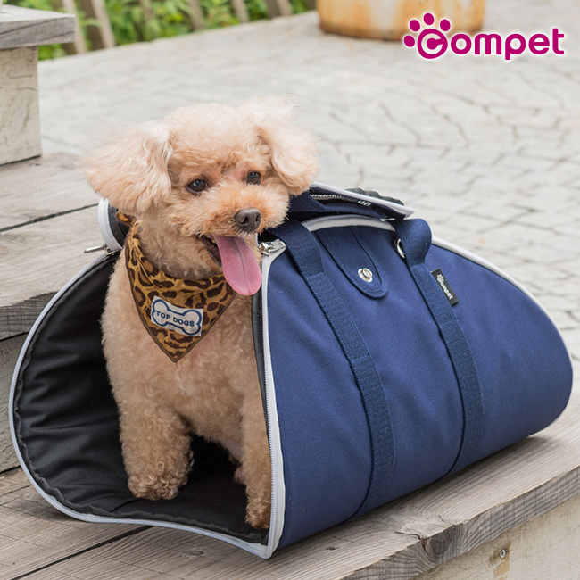 ◎コムペット エケバッグ Sサイズ[ペットの移動や外出に便利なキャリーバッグ 小型犬のペットキャリーバック 犬の持ち運びに人気のペットキャリー 斜めがけもできるおすすめのバッグ]