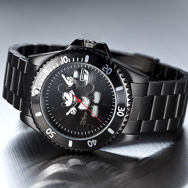 ◎【ギフト対応無料】ミッキー ダイヤモンドマリーナ[ミッキーマウスの腕時計 プレゼントに人気 女性も男性も付けれるユニセックスの腕時計 シリアルナンバー入り 男女兼用のミッキー時計]