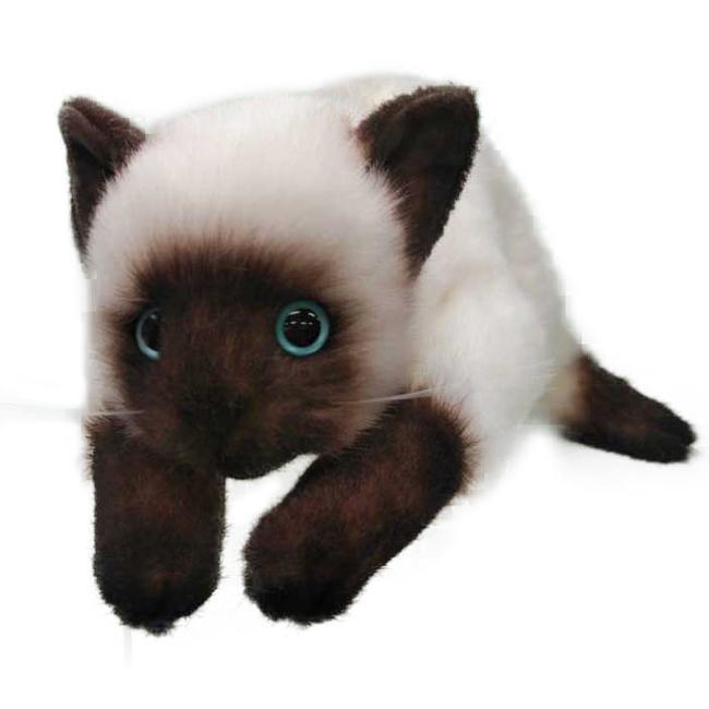 ◎日本製 リアル 猫のぬいぐるみ シャムネコ LLサイズ 2305[日本製 国産 リアルな猫のぬいぐるみ プレゼント ギフト 贈り物 可愛い 癒し猫 シャムネコ シャム猫 子供 こども]【即納】