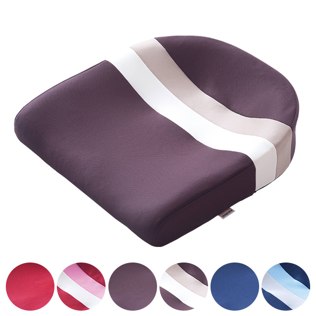 ◎スポッとクッション[デスクワークにおすすめの日本製のクッション 洗濯可のイス用のシートクッション(座布団) 洗濯可能だからいつでも清潔!ブラウン・レッド・ネイビーから選べる]